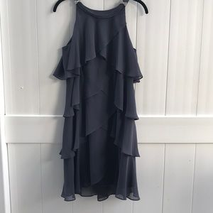 S.L. Fashion blue tiered cocktail dress size 10P